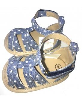 Sandales denim bleu