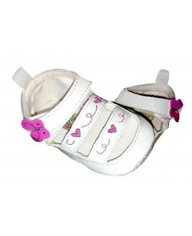 Sandales fermées papillon rose