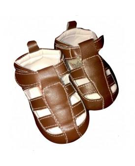 Sandales fermées marrons