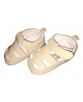 Sandales fermées beiges