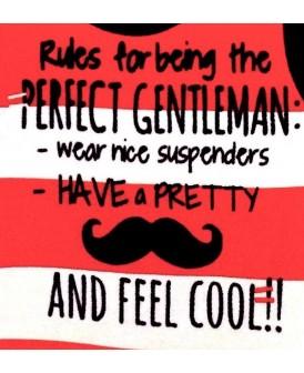 Barboteuse Gentleman rouge