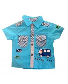Chemise bleu turquoise...
