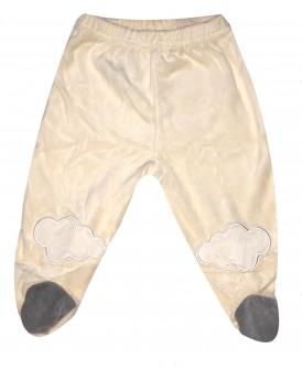Pantalon à pieds velours beige