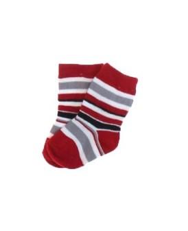 Chaussettes rayées rouges