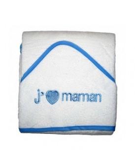 Cape de bain J'aime Maman...