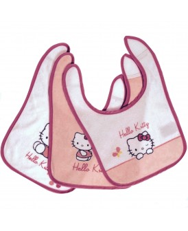 Lot de 3 bavoirs Hello Kitty