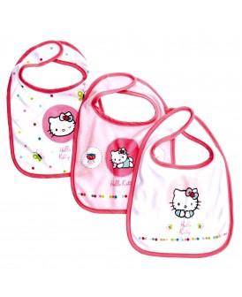 Lot de 3 bavoirs Hello Kitty