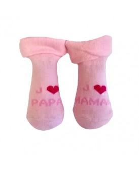 Chaussettes roses J'aime...
