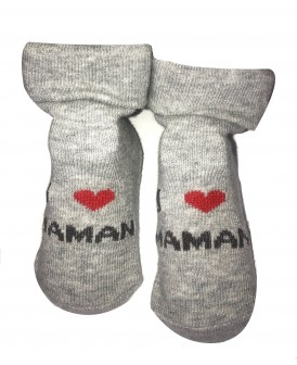 Chaussettes roses J'aime Maman