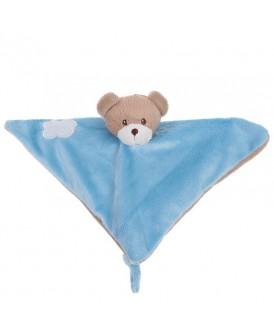 Doudou ourson bleu