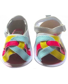 Sandales à brides multiclores